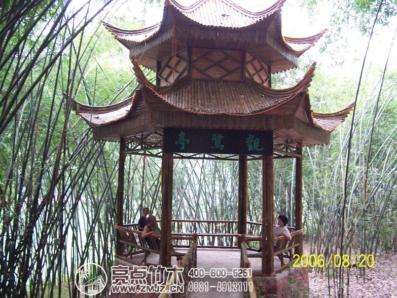 竹亭是以竹子为主体结构的亭子