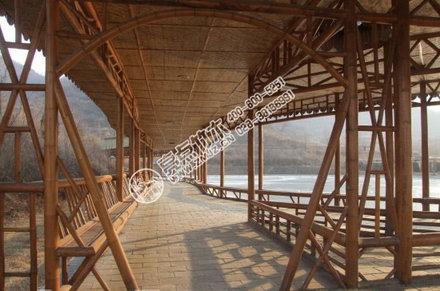 经典吊顶竹廊