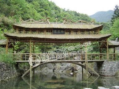 案例名称:野鹤湫风景区竹桥,亭案例类别:古建风格