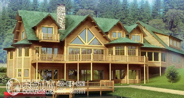 产品名称:欧式豪华木别墅